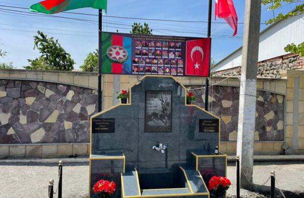 В Азербайджане открыли родник памяти героя